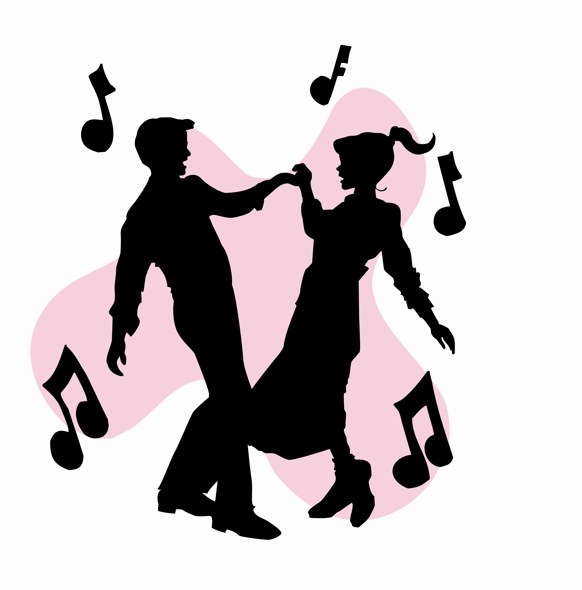 2475x2507 Party Clipart Dancing Silhouette