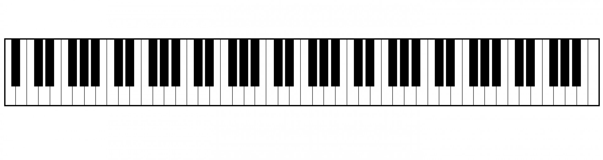 1920x512 Piano Keyboard Clipart Free Stock Photo