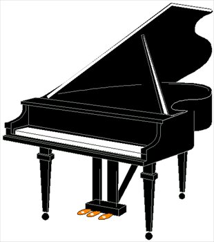 310x350 Free Pianos And Keyboards Clipart