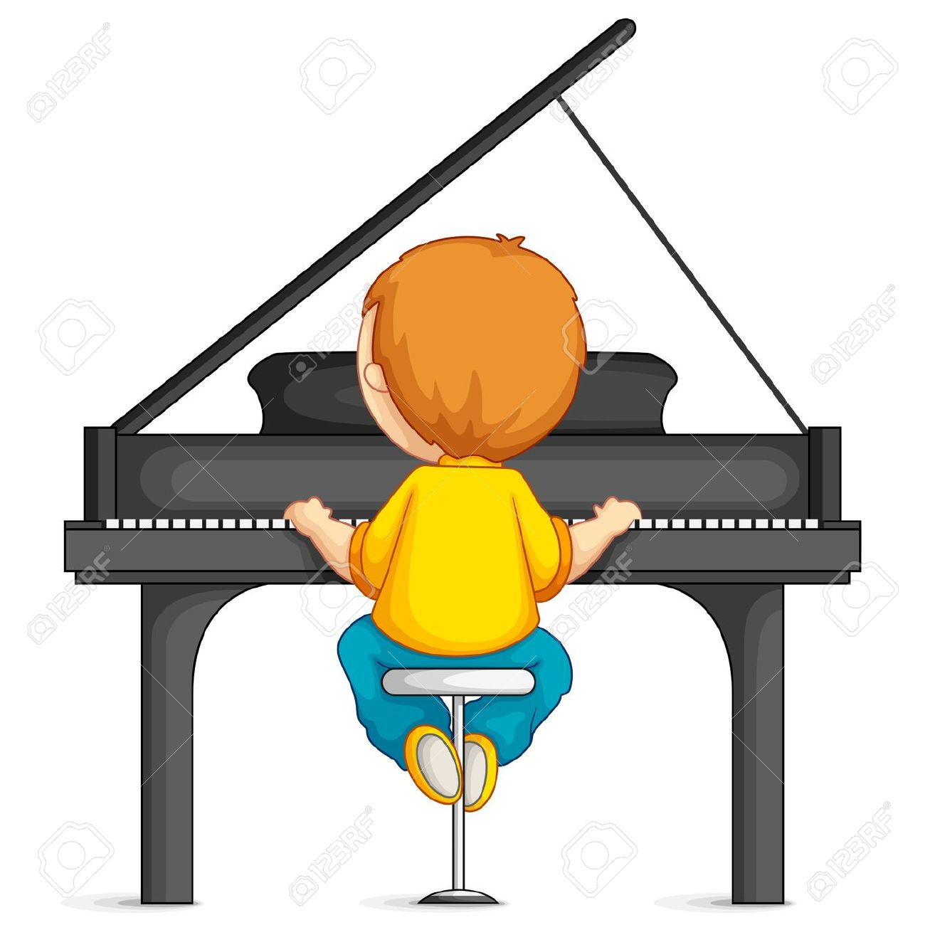 1300x1300 Free Clipart Of Girl Playing Piano