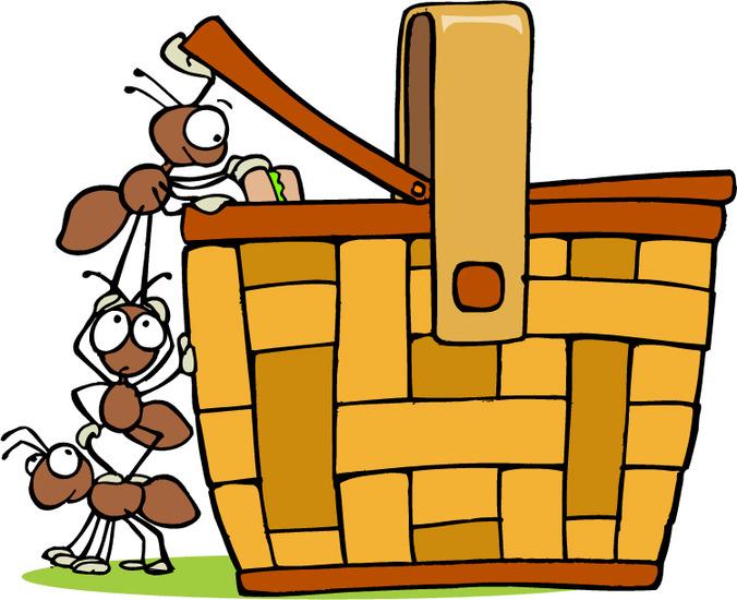 676x550 Clip Art Picnic Basket Food Clipart