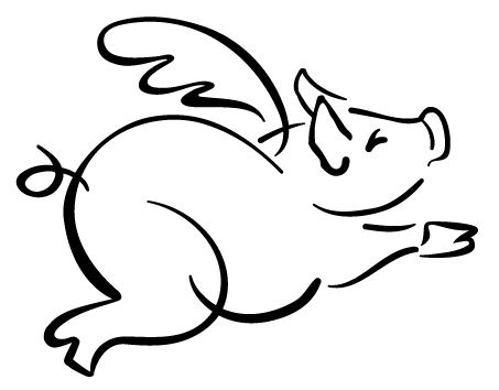 453x354 Pig Outline Clip Art Many Interesting Cliparts