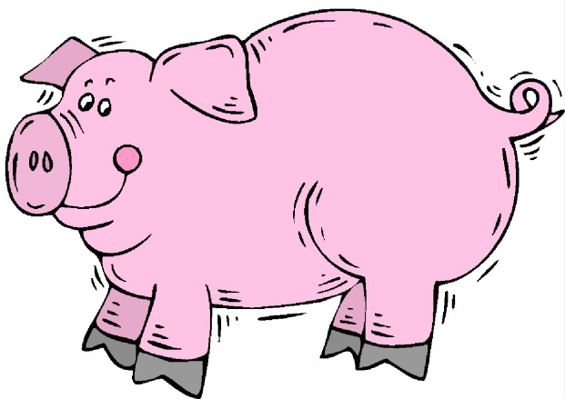 621x439 Pig Clip Art Black And White Free Clipart Images Clipartcow