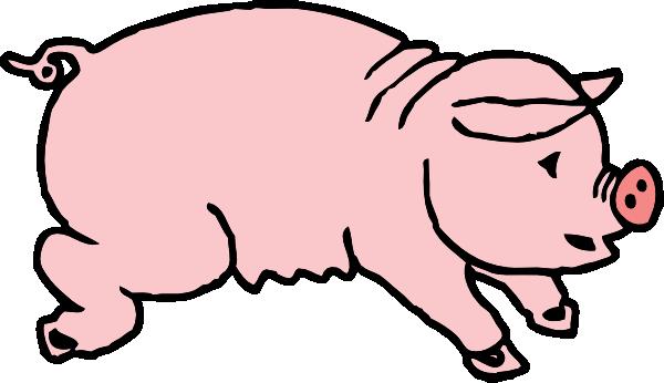 600x346 Piggie Pig Clip Art Free Vector 4vector