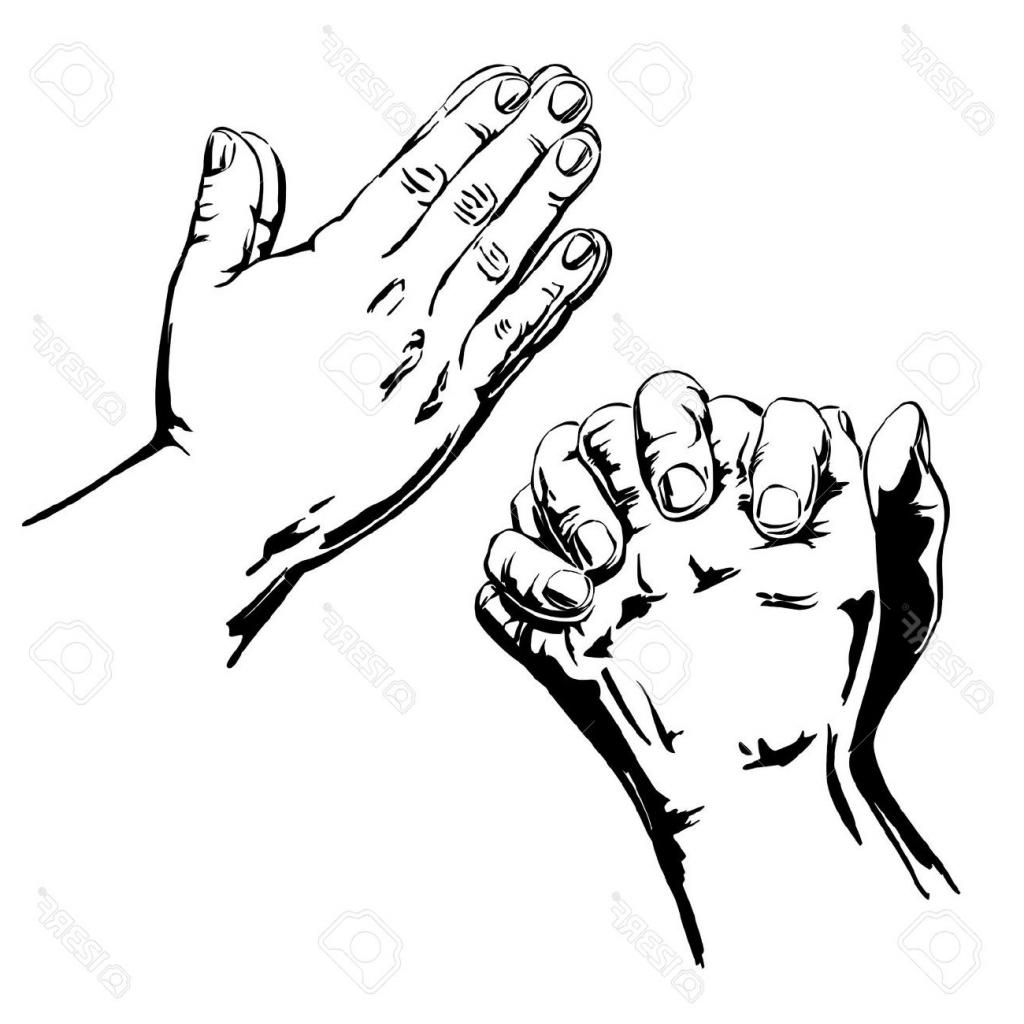 1024x1024 Hands Praying Drawing Praying Hands Clip Art Simple Black White