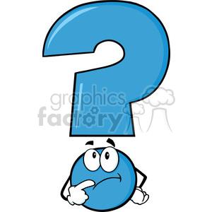 300x300 Royalty Free 6268 Royalty Free Clip Art Blue Question Mark Cartoon
