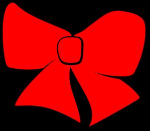 299x261 Hair Bow Red Clip Art