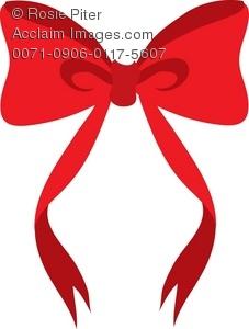 227x300 A Cartoon Clip Art Of A Red Bow