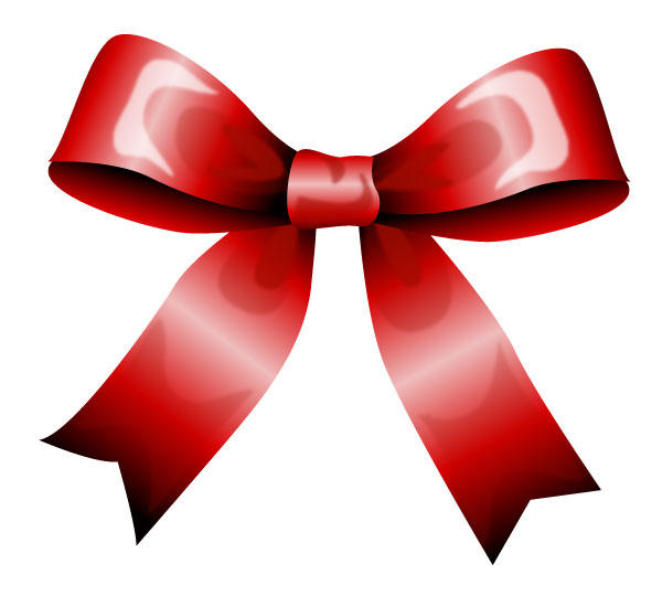 600x540 Red Bow Vector 123freevectors