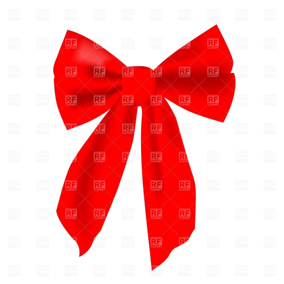 1200x1200 Red Bow Free Vector Clip Art Image
