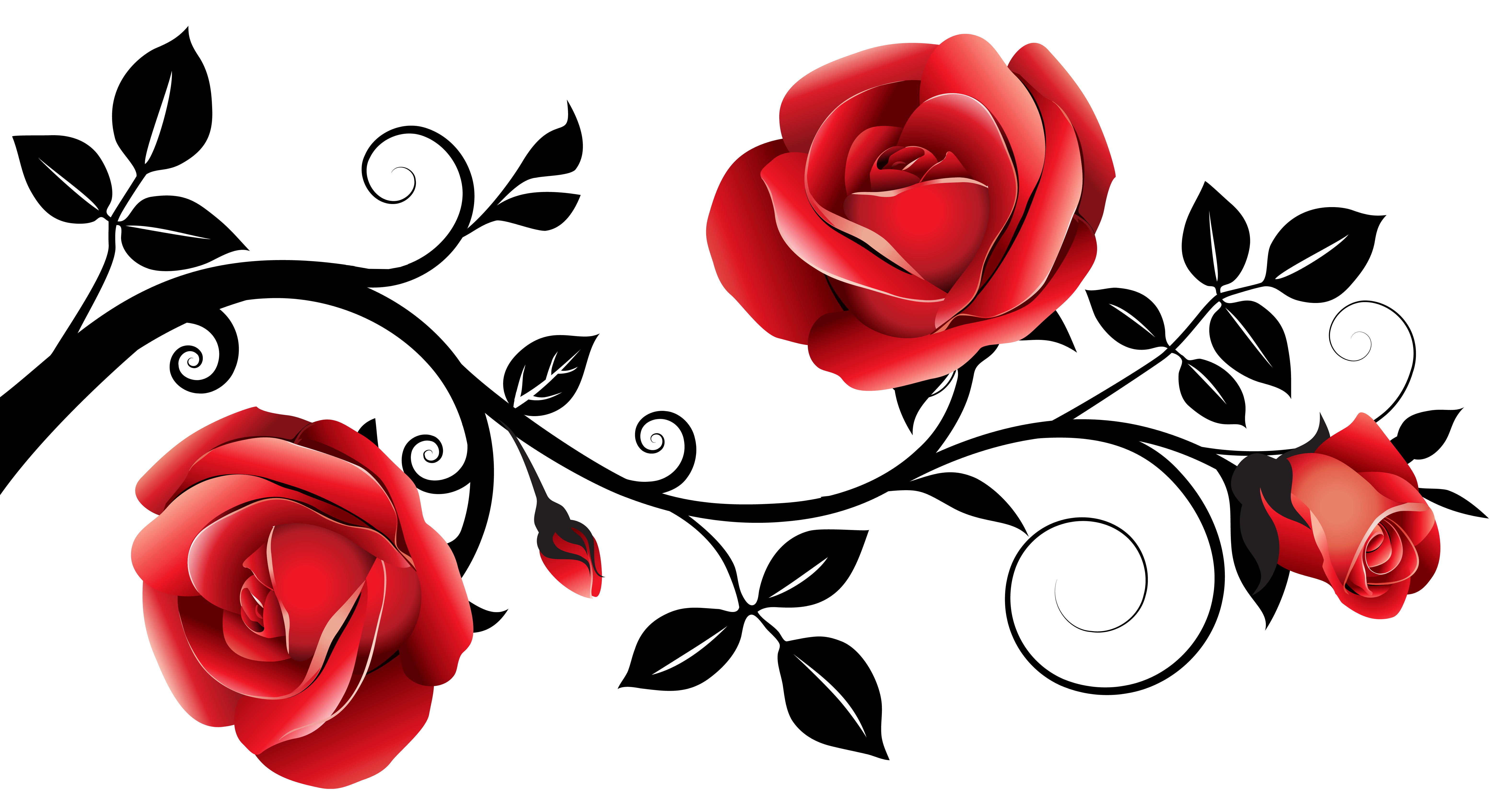Free Clipart Red Roses on Tattoo Designs Free Rose