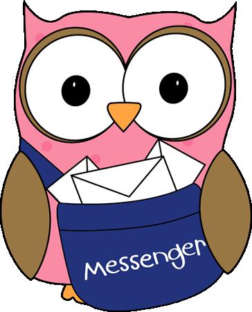 364x450 Owl Classroom Messenger Clip Art
