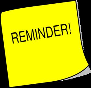299x288 Sticky Note Reminder Clip Art