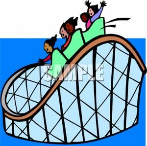 300x296 Amusement Park Clipart Roller Coaster