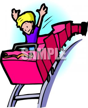 285x350 Royalty Free Clipart Image Boy Alone In A Roller Coaster Car