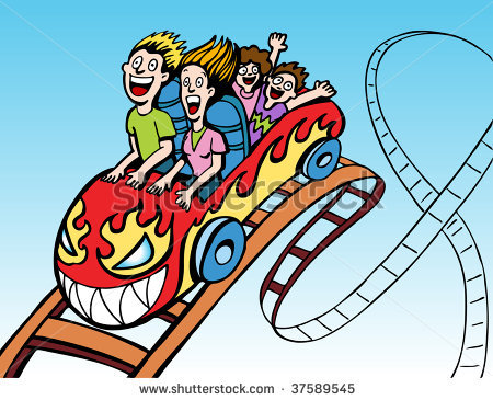 450x365 Simple Clipart Roller Coaster