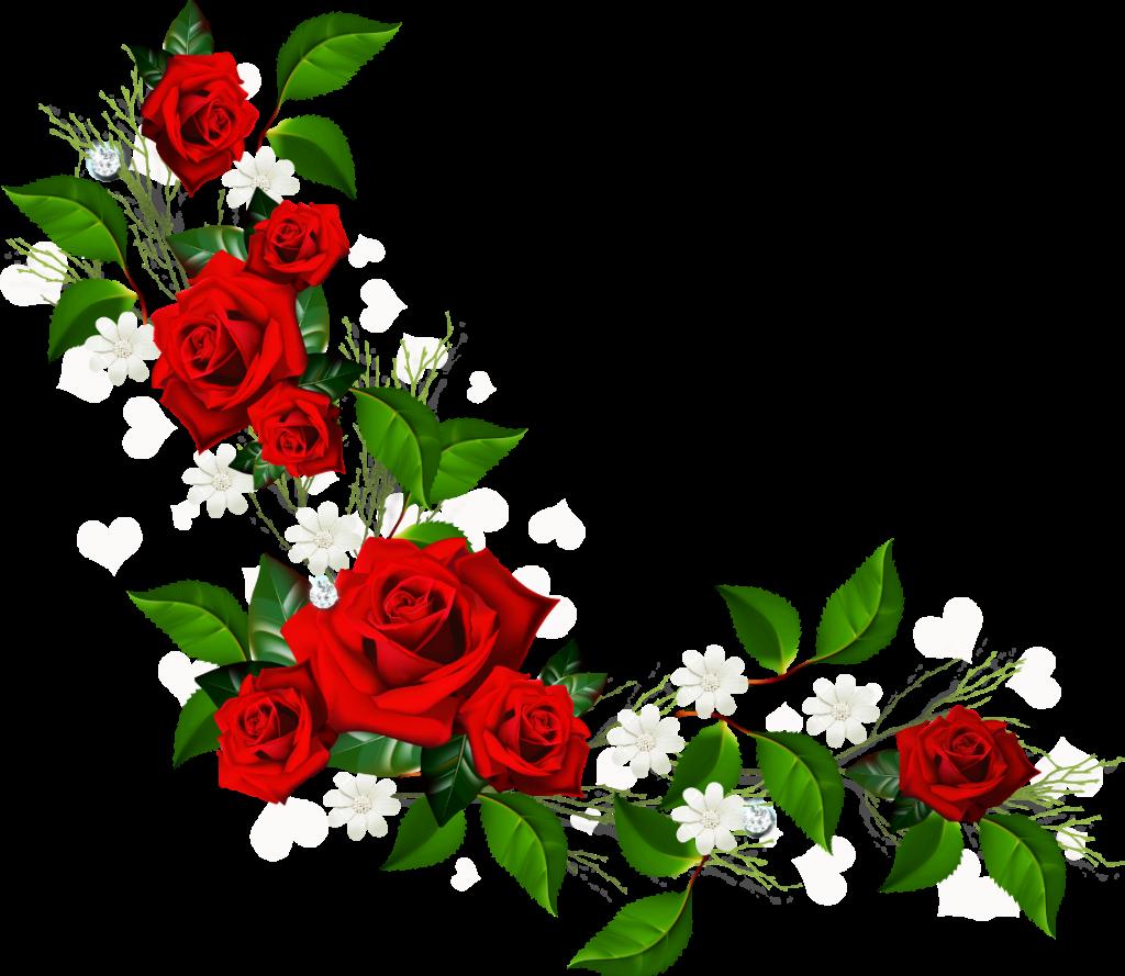 1024x889 Rose Flower Border Clip Art