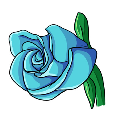 400x400 Blue Rose Clipart Blue Roses Clip Art Clip Art Library Coloring