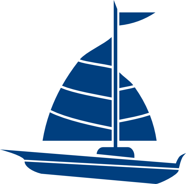 600x592 Free Blue Sailboat Clipart Image