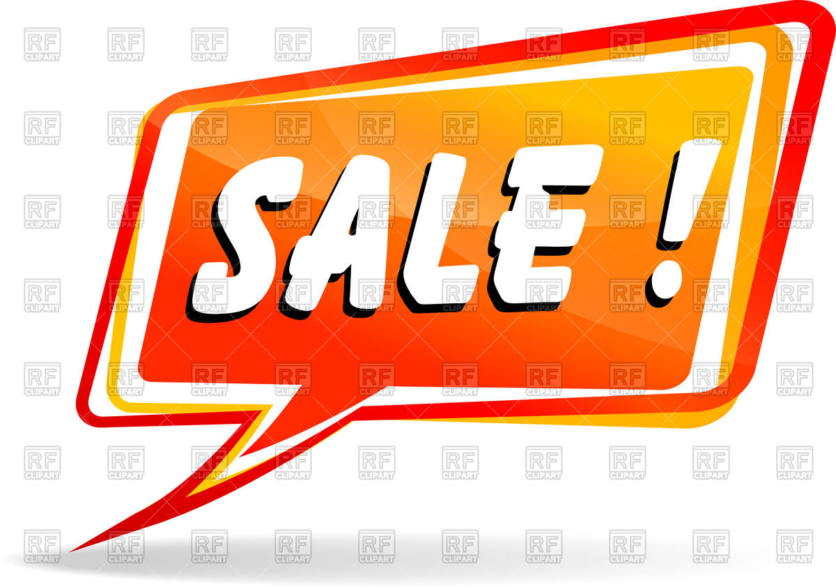 1200x842 Cartoon Speech Bubble With Word Sale Royalty Free Vector Clip Art