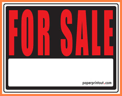 414x325 Printable For Sale Sign Leave Latter