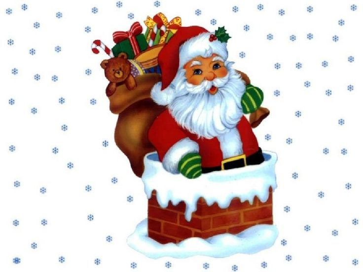 Free Clipart Santa And Reindeer Flying