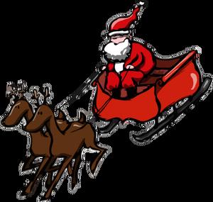 Free Clipart Santa Sleigh