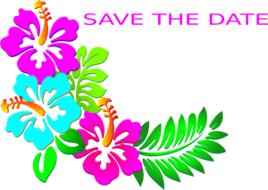 300x213 Save The Date Luau Clip Art