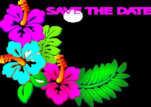 300x213 Save The Date Luau Clip Art