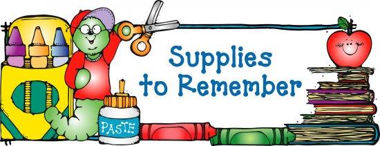 550x211 School Supplies Clipart Free
