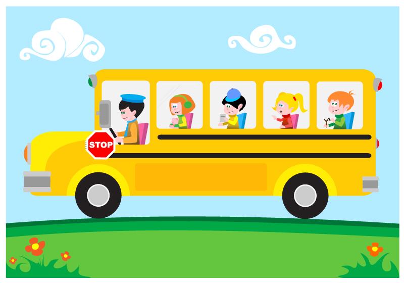 800x560 Cartoon school bus clipart