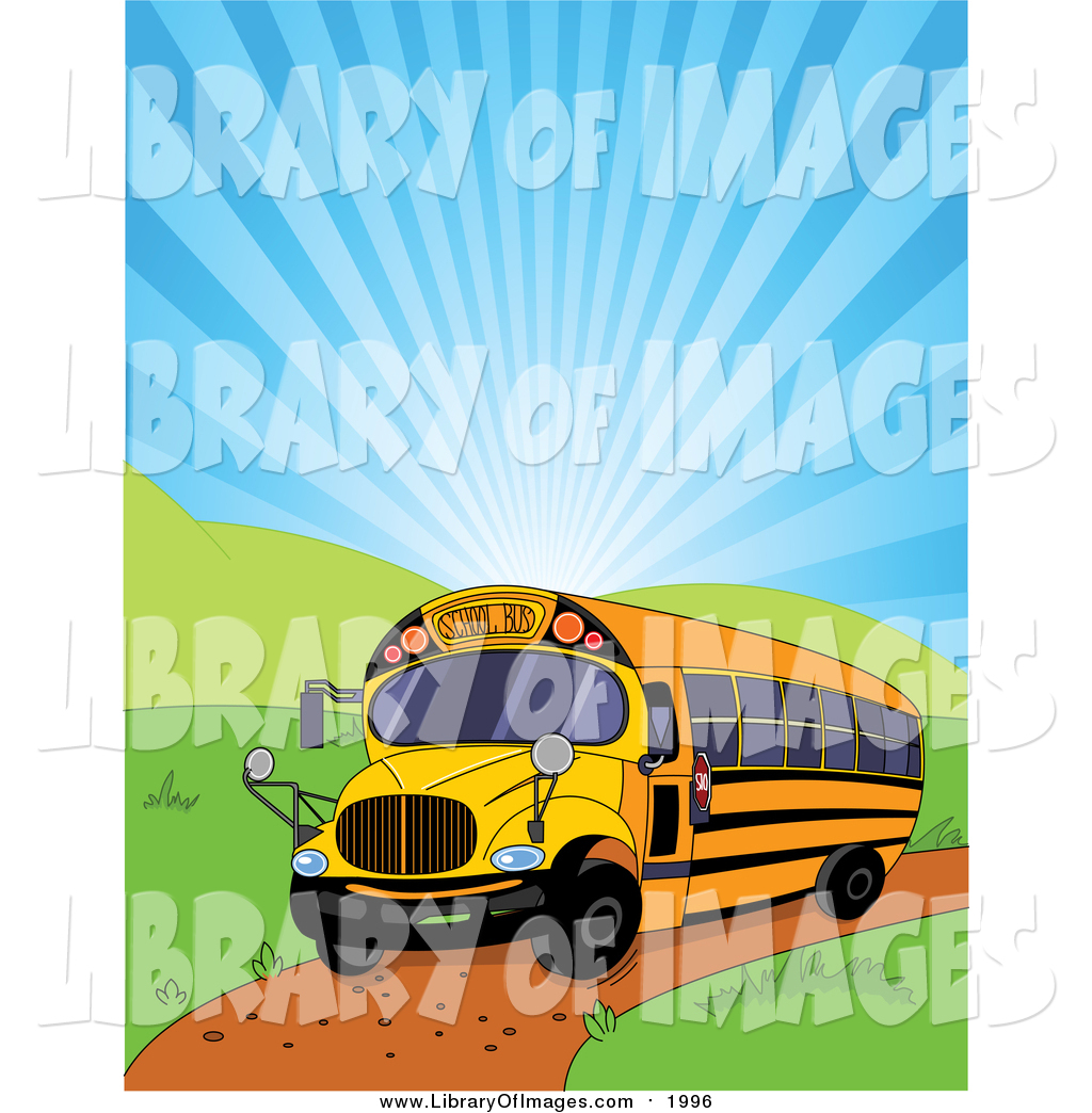 1024x1044 Clip Art Of A School Bus And Shining Sky By Pushkin