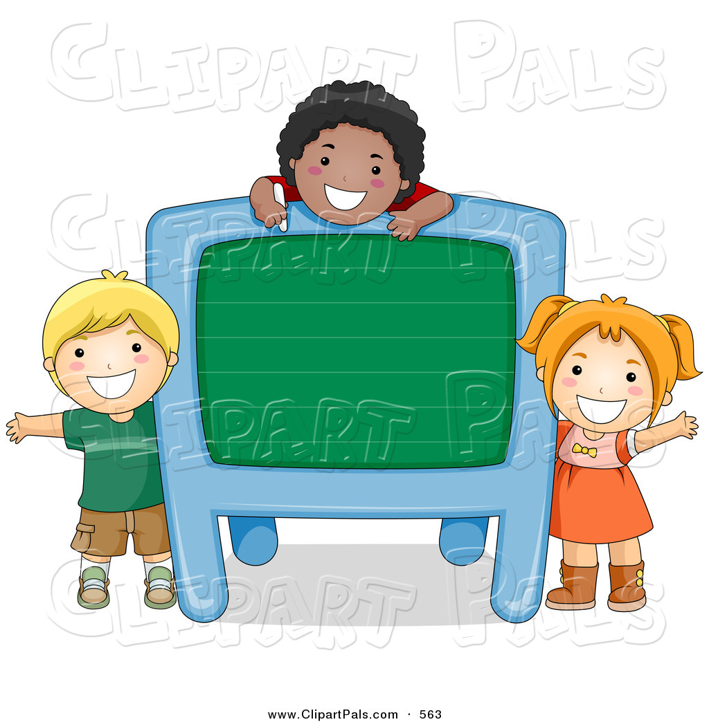 1024x1044 Pal Clipart Of A Group Of Diverse School Kids With A Blank