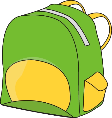 466x491 Green Backpack Clip Art