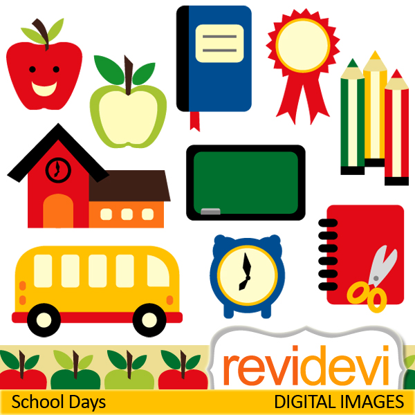 600x600 School Days Clipart