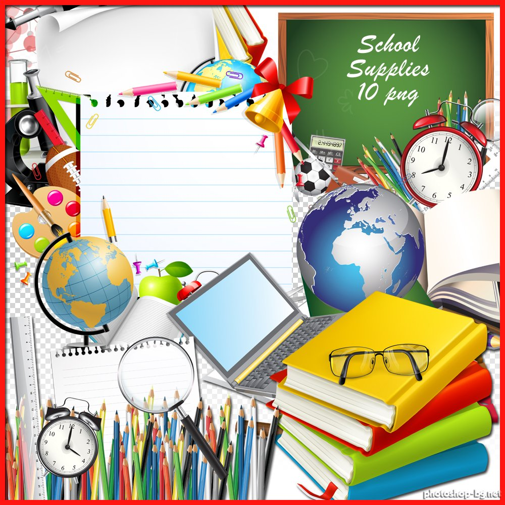 1000x1000 School Supplies Background Clipart Free Clipart Images
