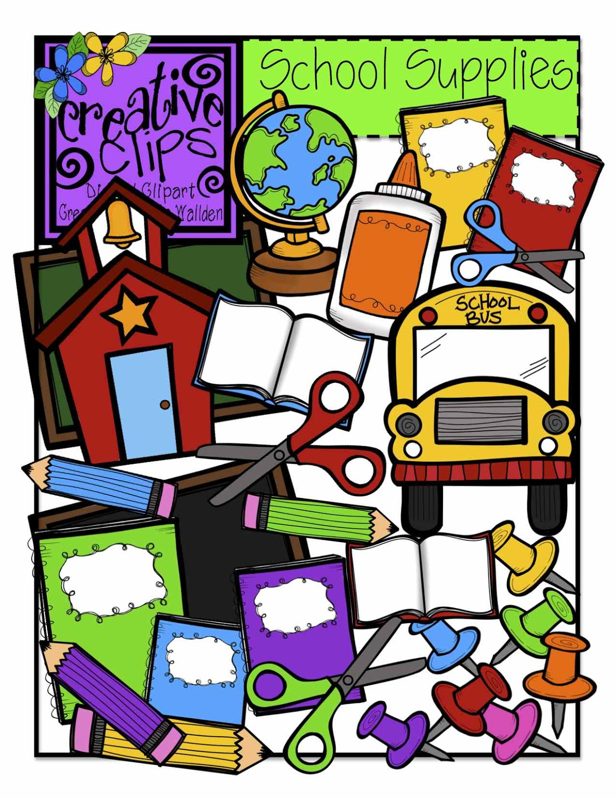 1236x1600 School Supplies School Supply Giveaway Clipart Clipartfest