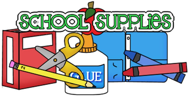 608x314 Clip Art School Supplies Many Interesting Cliparts