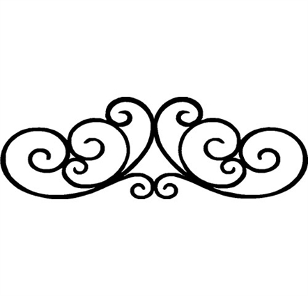 442x425 Scrollwork Photos Of Decorative Scroll Clip Art Simple Work 2