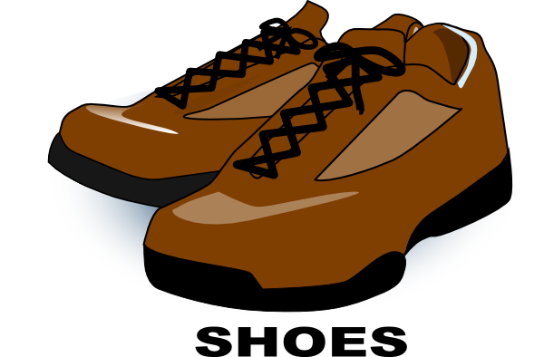 600x394 Brown Shoes Clip Art