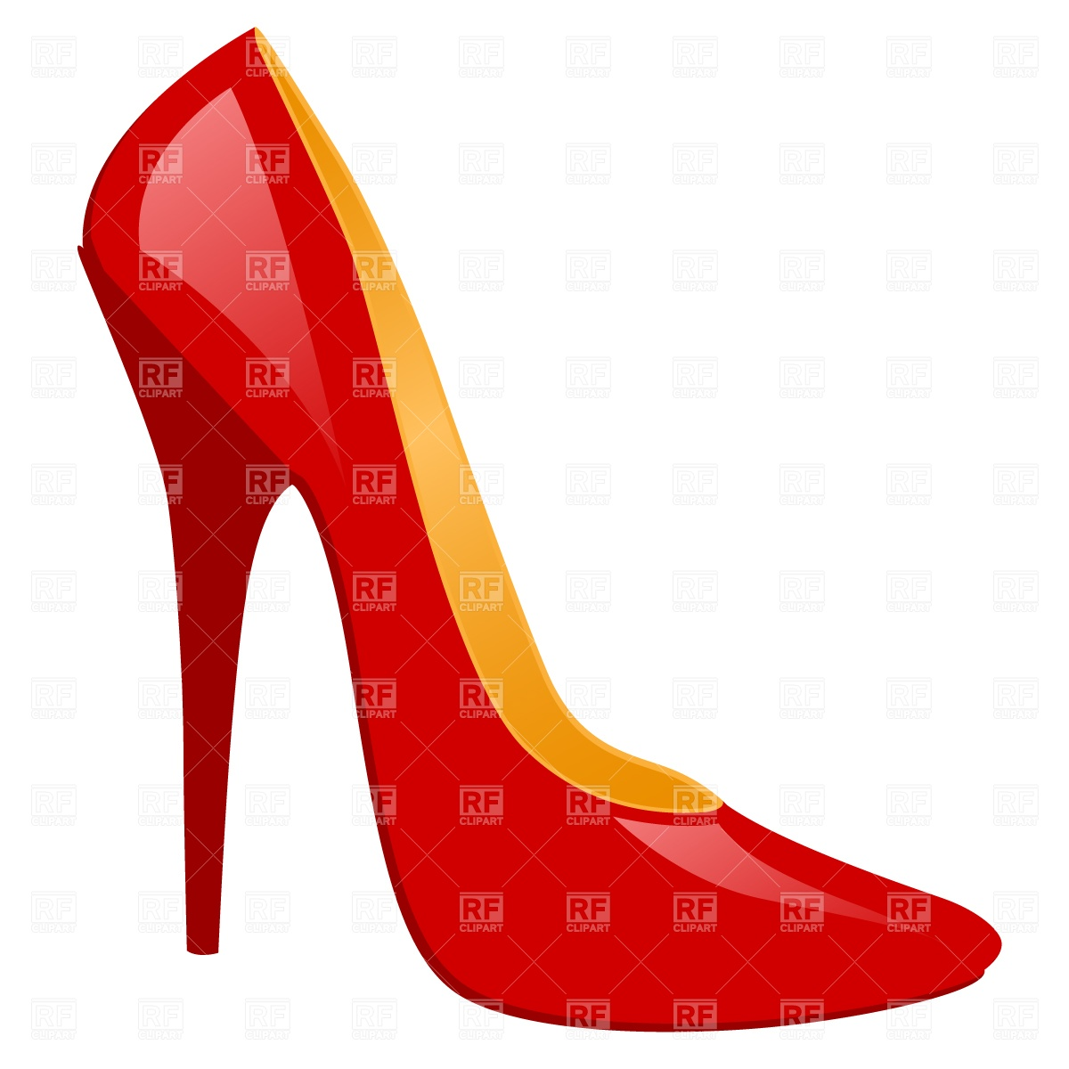 1200x1200 High Heeled Shoe Royalty Free Vector Clip Art Image