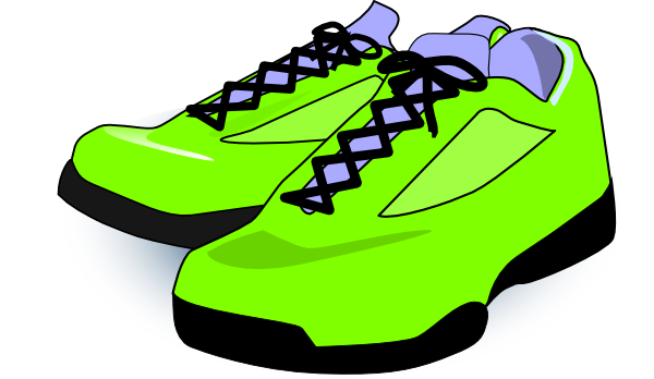 600x348 Neon Green Tennis Shoes Clip Art