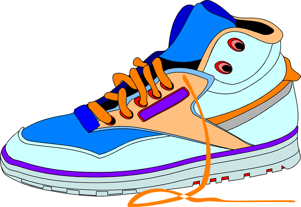 958x661 Shoe Clip Art Of Sneakers With Heart Clipart Kid