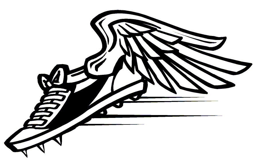 892x564 Track Clip Art Track Shoe With Wings Free Image