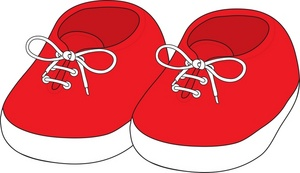 300x173 Gym Shoes Clipart Baby Shoe