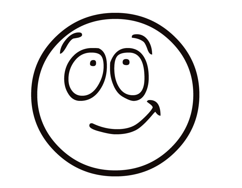 810x630 Free Smiley Face Clipart Black And White Image
