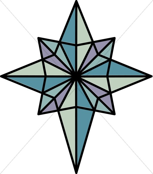 538x612 Nighttime Star Of Bethlehem Epiphany Clipart