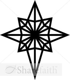 236x270 Printable Bethlehem Star Pattern. Use The Pattern For Crafts