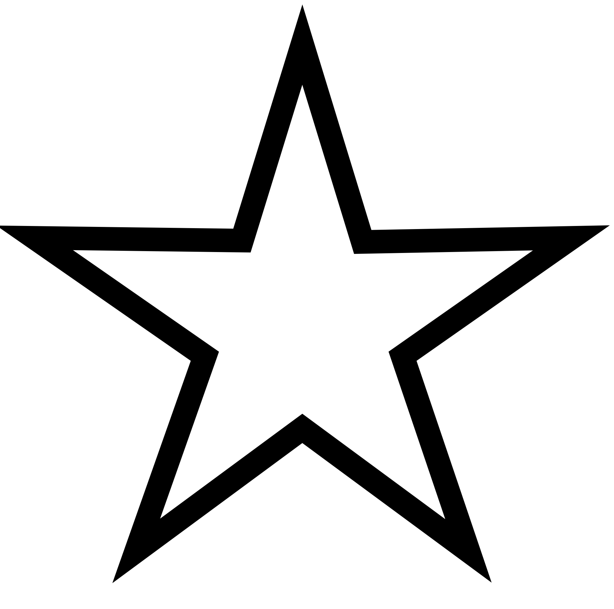 1979x1962 Star Black And White Clipart