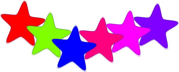 600x241 Free Colorful Stars Clipart Image